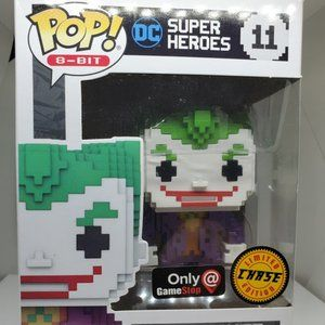 Funko Pop! 8 Bit The Joker #11 Chase GameStop Excl